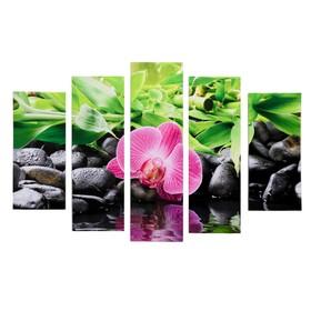 """Модульная картина """"Орхидея отражение"""" (2-23х52; 2-24х70; 1-24х80) 120х80см"""