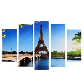 """Модульная картина """"Эйфелева башня"""" (2-23х52; 2-24х70; 1-24х80) 120х80см"""