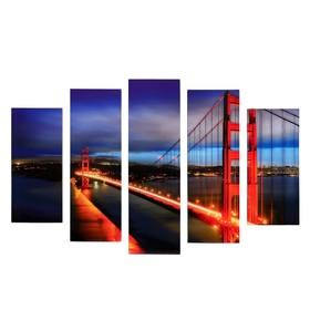 """Модульная картина """"Мост"""" (2-23х52; 2-24х70; 1-24х80) 120х80см"""