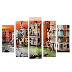 "Модульная картина ""Венеция"" (2-23х52; 2-24х70; 1-24х80) 120х80см"