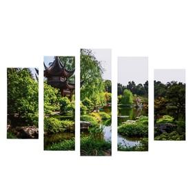 "Модульная картина ""Пагода"" (2-23х52; 2-24х70; 1-24х80) 120х80см"