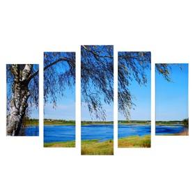 """Модульная картина """"Ностальгия"""" (2-23х52; 2-24х70; 1-24х80) 120х80см"""