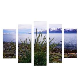 "Модульная картина ""Горы"" (2-23х52; 2-24х70; 1-24х80) 120х80см"