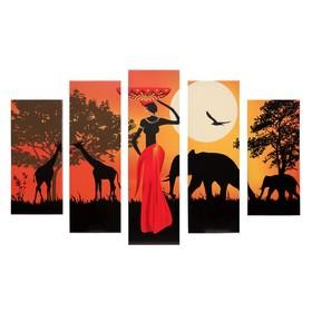 """Модульная картина """"Сафари"""" (2-23х52; 2-24х70; 1-24х80) 120х80см"""