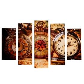 "Модульная картина ""Время"" (2-23х52; 2-24х70; 1-24х80) 120х80см"