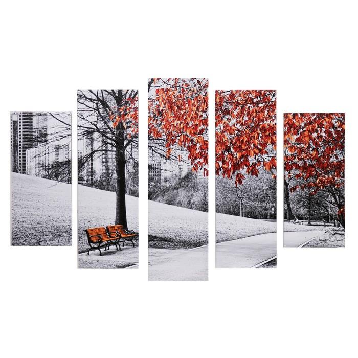 """Модульная картина """"Осень"""" (2-23х52; 2-24х70; 1-24х80) 120х80см"""