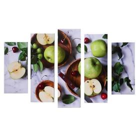 "Модульная картина ""Яблоки"" (2-23х52; 2-24х70; 1-24х80) 120х80см"