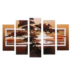 """Модульная картина """"Деревья"""" (2-23х52; 2-24х70; 1-24х80) 120х80см"""