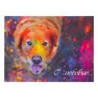 "Card-mini ""With Love!"" the dog 11 x 8 cm"