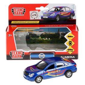 Машина металлическая «Nissan Almera. Спорт», 12см,открывающиеся двери и багажник, инерционная