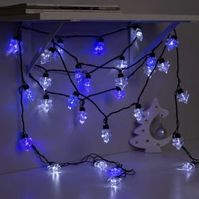 "Garland ""Thread"" street-room Packed with ""big Spruce"", 5 m, LED(IP44)-40-220V, blinking, glow white, and blue"