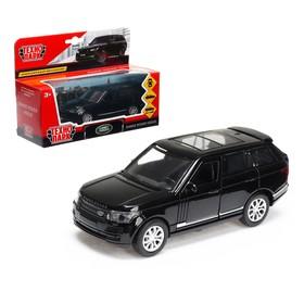 Машина металлическая RANGE ROVER VOGUE, 12 см, открывающиеся двери, инерционная, цвет чёрный