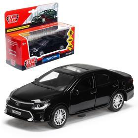 Машина металлическая TOYOTA CAMRY, 12 см открываются двери, инерционная, цвет чёрный