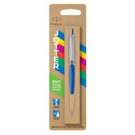 Ручка шариковая Parker Jotter Color M, корпус пластиковый, синие чернила, блистер (2076052)