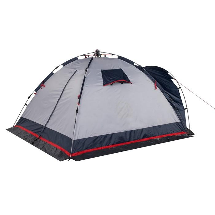 Палатка кемпинговая «Alcor 3», синий/серый - фото 36308