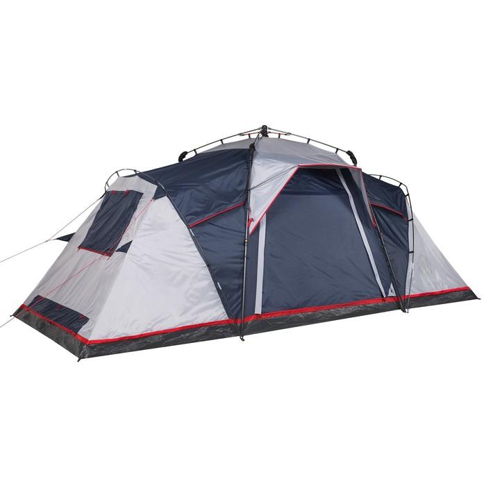 Палатка кемпинговая «Antares 4», синий/серый