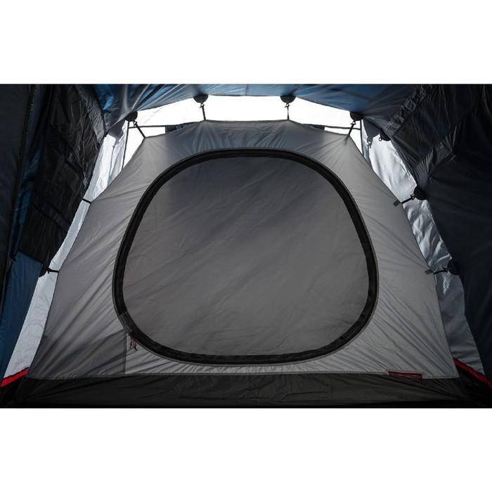 Палатка кемпинговая «Antares 4», синий/серый - фото 36318
