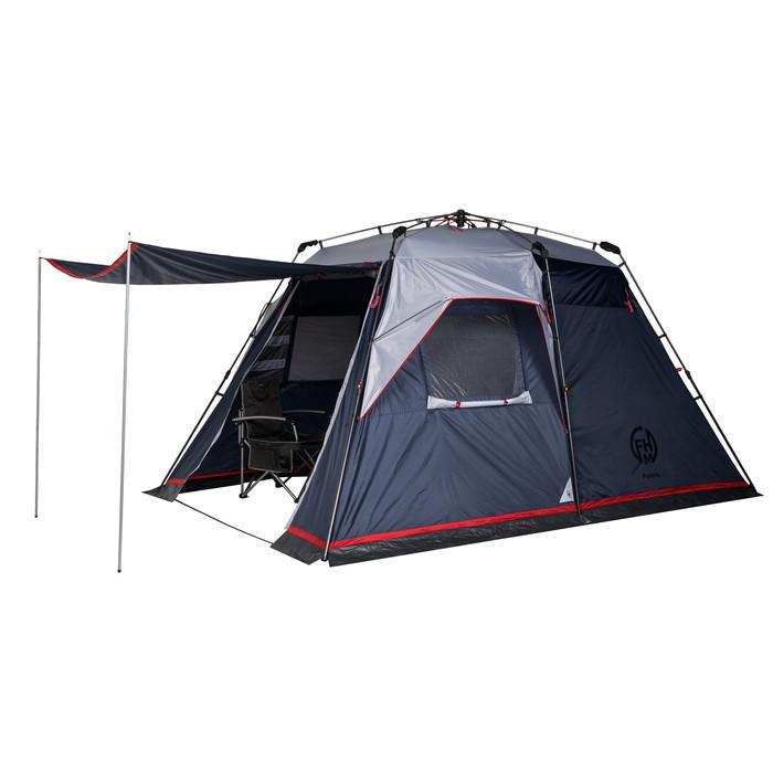 Палатка кемпинговая «Polaris 4», синий/серый - фото 36319