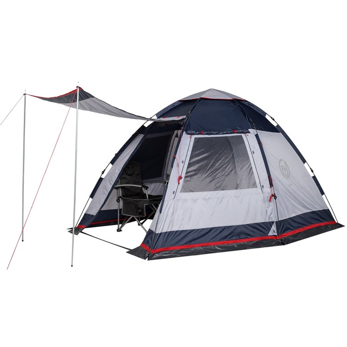 Палатка кемпинговая «Alioth 4», синий/серый