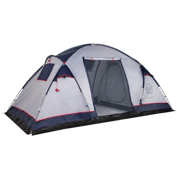 Палатка кемпинговая «Cassiopeia 4», синий/серый