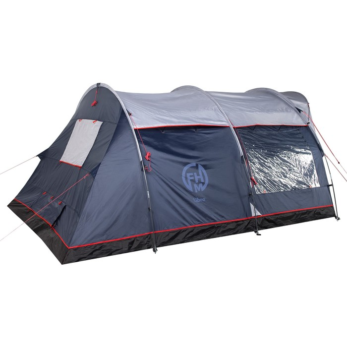 Палатка кемпинговая «Libra 4», синий/серый - фото 36346