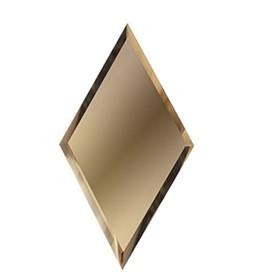 Зеркальная бронзовая матовая плитка «Ромб»10 мм, 200х340 мм