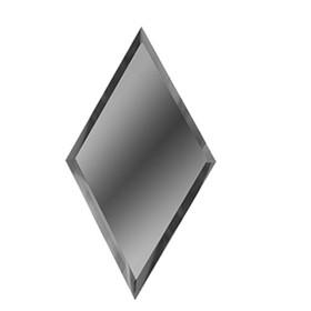Зеркальная графитовая матовая плитка «Ромб» 10 мм, 200х340 мм