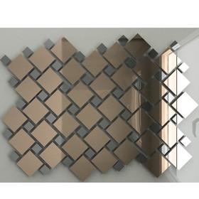 Зеркальная мозаика «Бронза» (70%) + «Графит»(30%) с чипом 25х25 мм и 12х12 мм