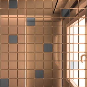 Зеркальная мозаика «Бронза» (90%) + «Графит»(10%) с чипом 25х25 мм