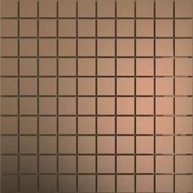 Зеркальная мозаика «Бронза» матовая с чипом 25х25 мм