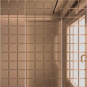 Зеркальная мозаика «Бронза» с чипом 25х25 мм