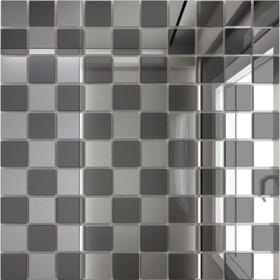 Зеркальная мозаика «Серебро» (50%) + «Графит»(50%) с чипом 25х25 мм