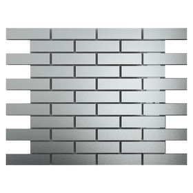 Зеркальная мозаика «Серебро» матовое с чипом 80х25 мм