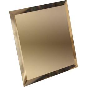 Квадратная зеркальная бронзовая плитка с фацетом 10 мм, 150х150 мм