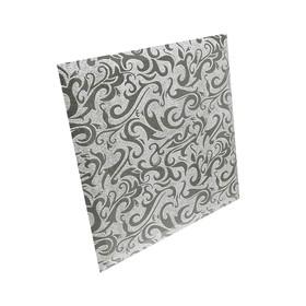 Плитка квадратная зеркальная серебряная «Алладин-3»