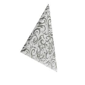 Плитка треугольная зеркальная серебряная «Алладин-4»