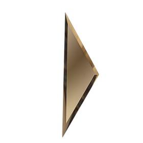 Половина зеркальной матовой бронзовой плитки «Полуромб» 10 мм, 150х510 мм