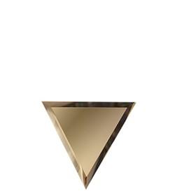 Половина зеркальной матовой бронзовой плитки «Полуромб» 10 мм, 300х255 мм
