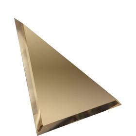 Треугольная зеркальная бронзовая матовая плитка с фацетом 10 мм, 150х150 мм