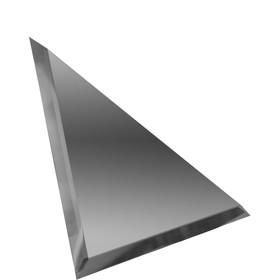 Треугольная зеркальная графитовая плитка с фацетом 10 мм, 150х150 мм