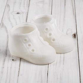 Ботинки для куклы «Шик», длина подошвы: 9.5 см, 1 пара, цвет белый