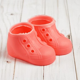 """Boots for dolls """"Chic"""", sole length 9.5 cm, 1 pair, color rose"""