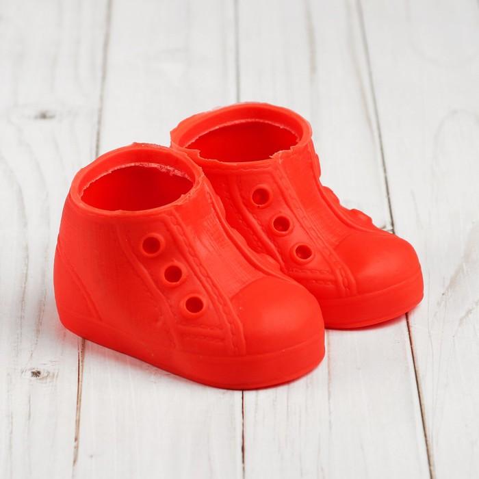 Ботинки для куклы «Шик», длина подошвы: 9,5 см, 1 пара, цвет красный