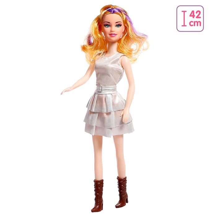 Кукла «Наташа» в платье, высота 41 см, МИКС