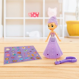 """Doll """"Princess"""" with light, with sticker, color MIX"""