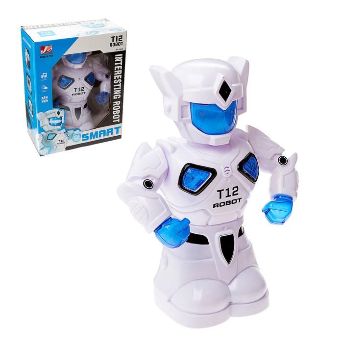 Робот «Т12», световые и звуковые эффекты, работает от батареек