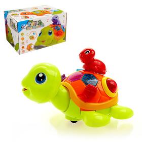 Развивающая игрушка «Черепашка с малышом», световые и звуковые эффекты, цвета МИКС