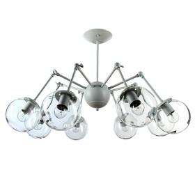 Светильник 123N3522/8 WT+CR 60W E27 белый/прозрачный 88х41,5см