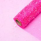 """Mesh """"Snow"""", color hot pink, 48cm x 4.5 m"""