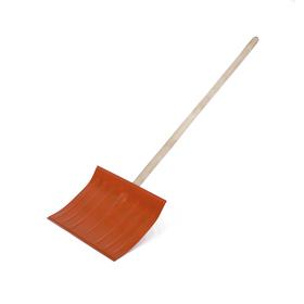 Лопата металлическая радиусная, ковш 360 × 460 мм, деревянный черенок, 1 сорт